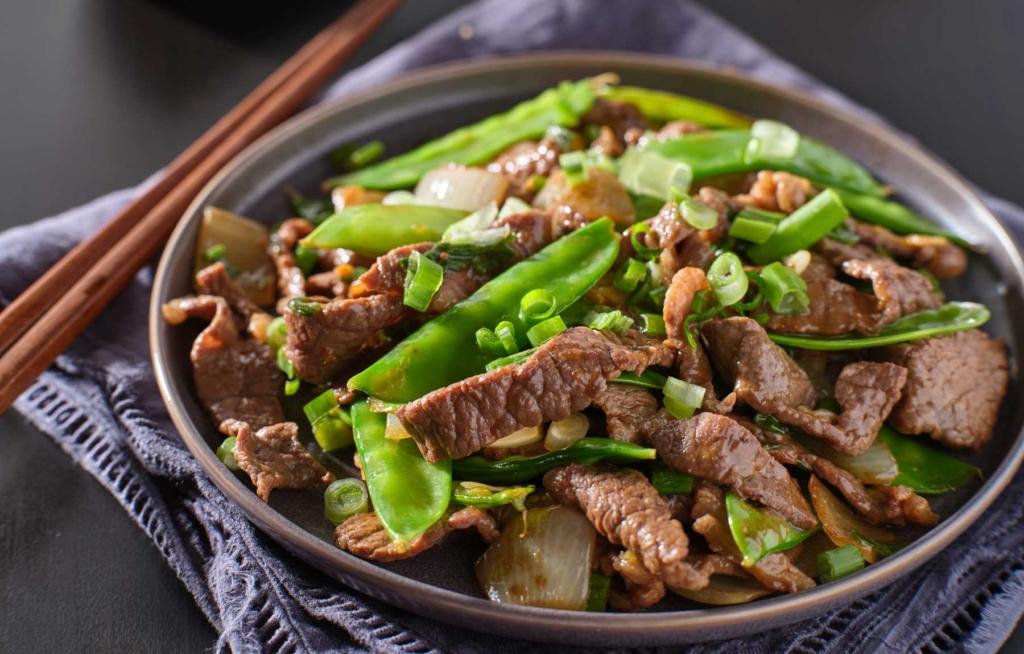 Zlim recept - Roergebakken biefstuk met peultjes en rijst